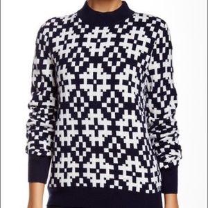 Equipment Tayden Pattern Mock Neck Sweater